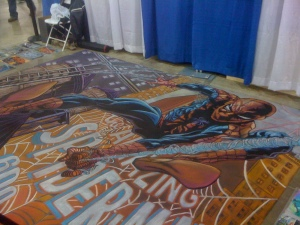 Amazing Spider-Man #600 Chalk Art