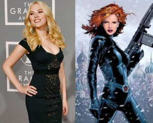 Scarlett Johannson and the Black Widow